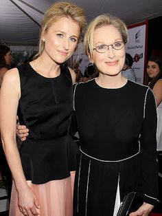 Like mother, like daughter! Meryl Streep poses with daughter Mamie Gummer at the premiere of their film Ricki and The Flash in New York City
