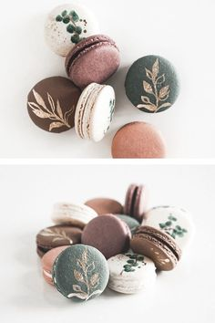 Cute Desserts, Dessert Recipes, Cute Food, Yummy Food, Macaron Cookies, Shortbread Cookies, Kreative Desserts, Macaron Flavors, French Macaroons