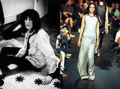Sneak Peek: The Met Costume Institute's Upcoming 'Punk' Exhibit: Patti Smith, late 1970s (Photograph by Caroline Coon, Camera Press) and Ann Demeulemeester, spring/summer 2000 (Photograph by Catwalking)