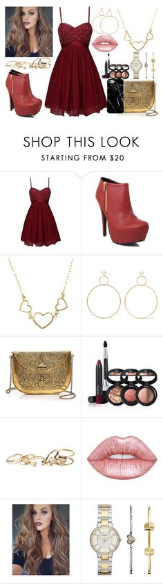 """Sans titre #206"" by still-into-malik ❤ liked on Polyvore featuring Little Mistress, Qupid, Natasha Schweitzer, From St Xavier, Laura Geller, GUESS, Lime Crime, FOSSIL and Recover"