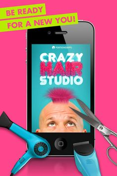 Crazy Hair Studio 1.3 (iPhone / iPod Touch / iPad) (Application)