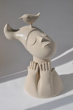 'A bird on my head' by Chiu-i Wu - Artwork and Ceramics~