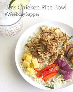 Jerk Chicken Rice Bowl #WeekdaySupper