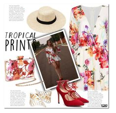 """""""yoins big floral"""" by yoinscollection ❤ liked on Polyvore featuring tropicalprints and hottropics"""