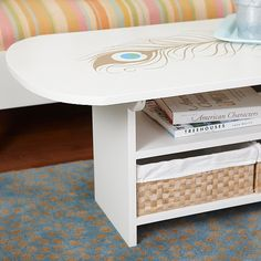 Tired of your old coffee table? Breathe some new life in it with a coat of paint.