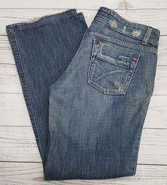 Joes Jeans LOV medium heavy distressed denim straight leg women's SZ 28 L30 #JoesJeans #StraightLeg