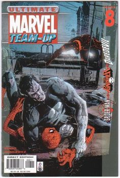 Browse the Marvel Comics issue Ultimate Marvel Team-Up Learn where to read it, and check out the comic's cover art, variants, writers, & more! Spiderman, Ultimate Marvel, Brian Michael Bendis, Man Character, Classic Comics, Daredevil, Punisher, Comic Covers, Comic Artist