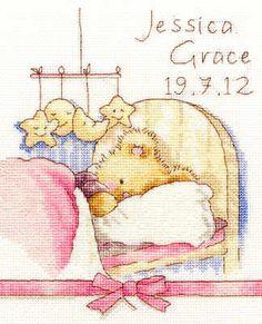 Baby Birth Sampler -  Huggies Bedtime - Bothy Threads