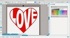 Silhouette Studio Word Art Tutorial (Shape Text: Heart) ~ Silhouette School