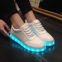 db6f7354446 LED luminous shoes men women fashion sneakers USB charging light up  sneakers for adults colorful glowing leisure flat shoes mans