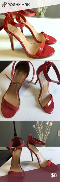 Cherry red heels Cherry red sexy heels. The right heel by the toes area is a little chip other than that they are in great condition. Shoes Heels