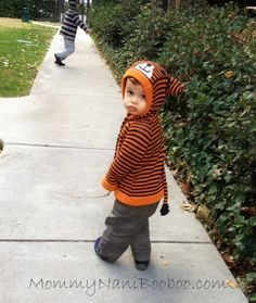 Toto Knits handmade tiger sweater.  Oh, the cute.