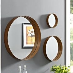 Living Room Mirrors, Living Room Accents, Living Room Decor, Entryway Mirror, Entryway Decor, Mirror Above Couch, Plant Wall Decor, Mirror Set, Wall Mirror