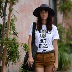 Make a fashion statement by including the Animals Are Not Ours Unisex T-Shirt in your Fall ensemble. #vegan #peta #fallfashion <3