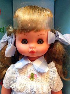 Ciarlina in vinile bambola anni 70 italiana della Italocremona