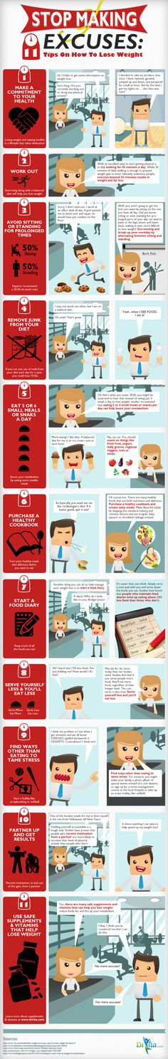 11 Tips for Losing Weight in 2013 Infographic
