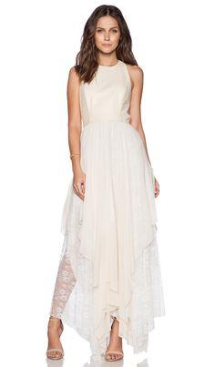 Alice + Olivia Jennifer Leather Dress in Bone | REVOLVE