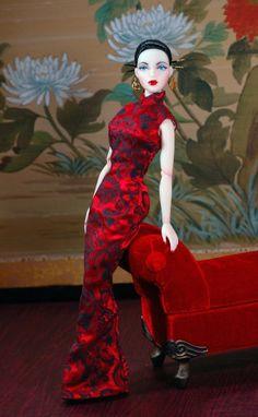 The Studio Commissary: Theme: Phoenix Gene in her new Qipao dress...