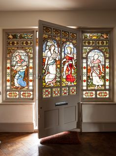 Stained glass doorway.