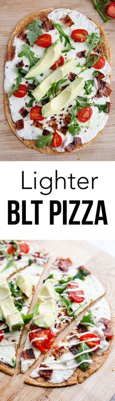 Lighter BLT pizza re
