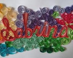 Porta Maternidade Birthday Candles, Quilling Earrings