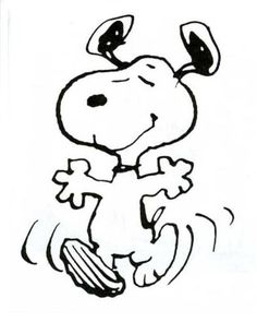 Snoopy - The original Happy Dancer - The Charlie Brown Theory of Personality....this just makes me happy looking at it! :)