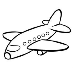 Art Drawings For Kids, Drawing For Kids, Easy Drawings, Art For Kids, Airplane Coloring Pages, Easy Coloring Pages, Coloring Books, Banner Clip Art, Airplane Drawing