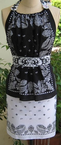 vintage apron pattern - bandana apron *I would love to take this a step further and make it a sun dress.