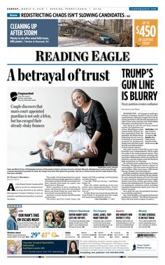 Today's front page. March 4, 2018