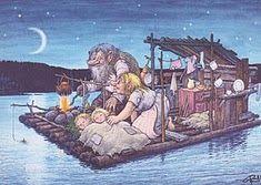 Trolls Funny Troll, Pixies, Watercolor Illustration, Sweden, Scandinavian, Parents, Dads, Pencil, Fairy