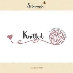 Premade Logo & Watermark // Yarn logo // Knit logo // Wool Logo // Blog // Knitter logo design  // Solipandi Design Studio//#029
