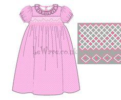 Pink geometric hand smocked dress for little girls  http://lewave.co.uk/Detail-pink-geometric-hand-smocked-dress-for-little-girls---ld-094-4069.aspx