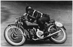 The Black Devil!  Omobono Tenni, Moto Guzzi Falcone 500cc, Tourist Trophy (1937)