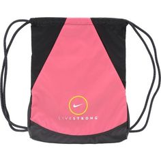 Nike LIVESTRONG Girl's Sackpack Gymsack Bag Spark Pink #WomenGymBags