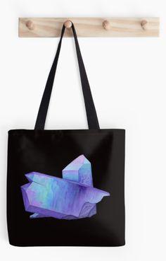 Purple crystal amethyst tote bag. Shop now: http://www.redbubble.com/people/marianamello/works/23611054-purple-crystal-amethyst-angel-aura-quartz-geode?asc=u&p=tote-bag&rel=carousel