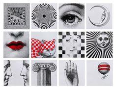 Prints by Fornasetti http://www.fornasetti.com/en/creations/licenses/ceramica-bardelli/