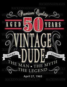 Vintage Label 50th Birthday Accessories by MacKennasImagination