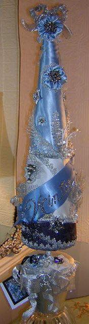 Reserved Cafelinda WINTER JEWELED  TREE Thirs in Series Victorian Fantasy Tree Snow and Ice in Vintage Look RhinestoneJewels Crystals