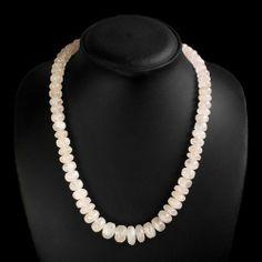 Natural Pink Rose Quartz Round Beads Necklace Strand