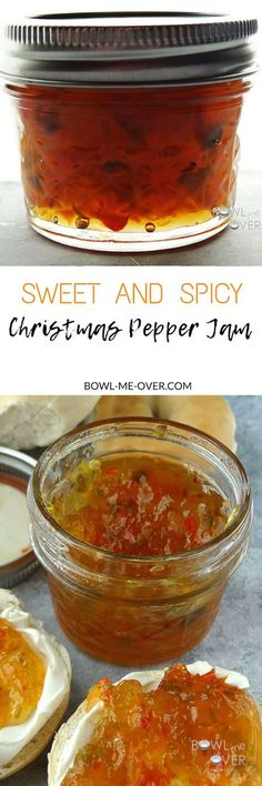 Christmas in July Pepper Jam is AMAZING. Try it on a toasted bagel with some cream cheese & a spoonful of jam. It also makes a terrific glaze on pork or chicken. Jam Recipes, Canning Recipes, Holiday Recipes, Canning 101, Canning Jars, Christmas Recipes, Sandwich Recipes, Cooker Recipes, Vegetarian Recipes