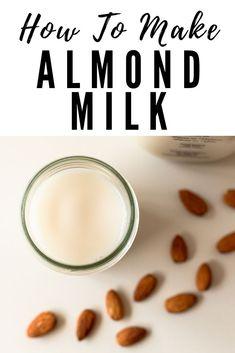 Almond Pulp, Make Almond Milk, Almond Milk Recipes, Homemade Almond Milk, Almond Milk For Babies, Coconut Milk, Soaked Almonds, Raw Almonds, Keto Pumpkin Pie