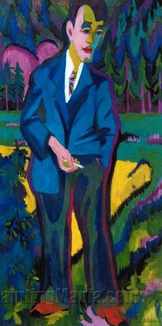 Giovane Artista - Hans Schiess by Ernst Ludwig Kirchner