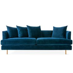 Gus* Modern Margot Sofa - The Margot Sofa epitomizes modern elegance with graceful arms, French-seam detailing, and loose, luxurious cushions that give a look which is both timeless and contemporary.