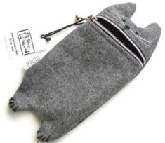 The Hungry Cat Gadget Pouch is Too Cute to Resist trendhunter.com