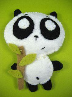 Panda stuffie- front by Spencerette, via Flickr