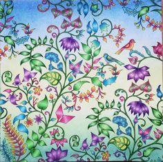 «Springtime ☀️ #johannabasford #enchantedforest #florestaencantada #meinzauberwald #fabercastell #polychromos #softpastels #desenhoscolorir…»