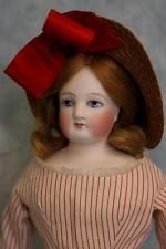 """Antique 14"""" Blue Eyed French Bisque Fashion Doll Antique Clothes,bonnet & Wig!! in Dolls & Bears, Dolls, Antique (Pre-1930), Bisque, French 