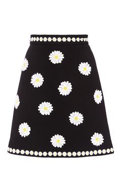 Mini Skirt With Floral Appliques by DOLCE & GABBANA Now Available on Moda Operandi