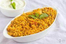 Aloo-Tamatar ka Pulao - Kali Mirch - by Smita Indian Veg Recipes, Ethnic Recipes, Vegan Gluten Free, Vegan Vegetarian, How To Cook Potatoes, Lunch Box Recipes, Biryani, Garam Masala, One Pot Meals