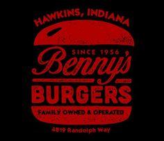 Benny's Burgers T-Shirt - Stranger Things T-Shirt is $15 at TeeFury!